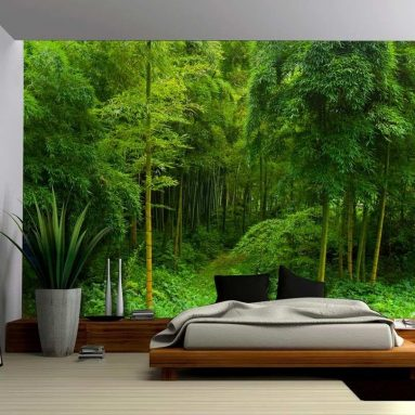 Hidden Path in a Bamboo Forest – Wall Mural