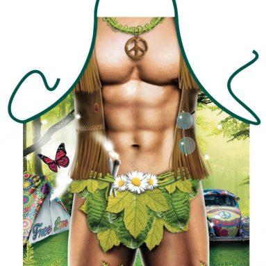 Hippy Man Sexy Funny Apron
