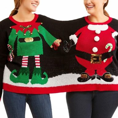 Double Two Person Not Ugly Holiday Christmas Sweater