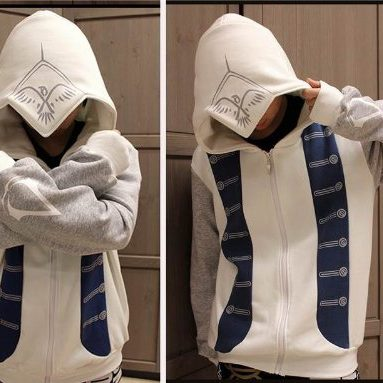 Costume Men's Hoodie Jacket Coat Costume