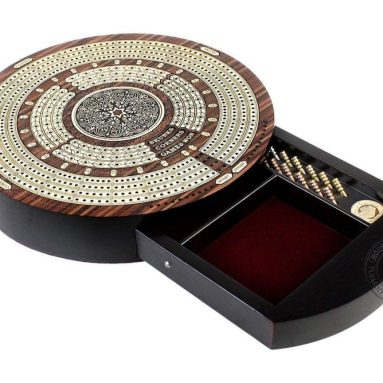 House of Cribbage – Round Shape 4 Tracks Continuous Cribbage Board