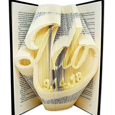 I do with a custom wedding date folded inside the pages of a book