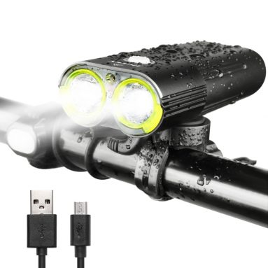 INTEY Bike Light LED Bicycle Lights USB Rechargeable Bicycle Headlight