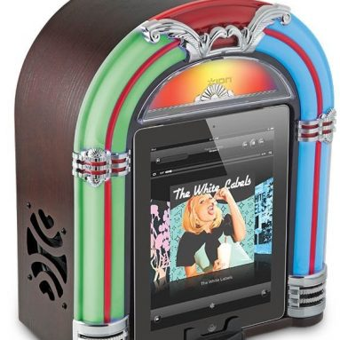 ION Jukebox Bluetooth Retro Wireless Speaker with Integrated USB Charger