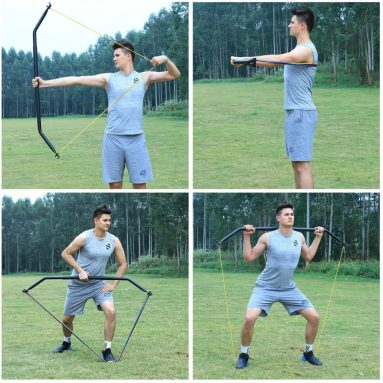 IRON AGE Resistance Band Training Bow Two-Piece Versatile Home Gym Full Body Workout Equipment