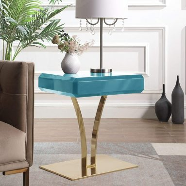 Iconic Home Rochelle Nightstand Side Table
