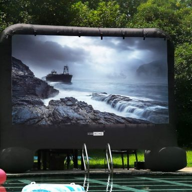 Indoor and Outdoor Inflatable Blow up Mega Movie Projection Screen