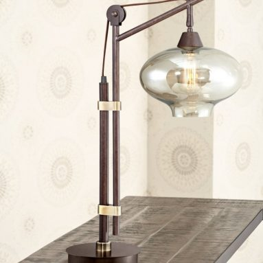Industrial Bronze Desk Lamp