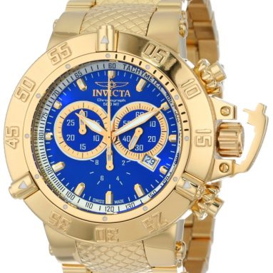 Invicta Men's 18k Gold Ion-Plated Stainless Steel Watch