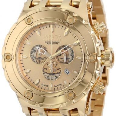 89% Discount: Invicta Men'sGold Dial 18k Gold Watch