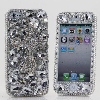 Iphone 5C Luxury 3D Swarovski Crystal Diamond Bling Sparkle