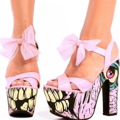 Pink Super Platform Heels