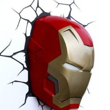 Iron Man Mask 3D Deco Light