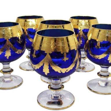 Italy Crystal Glasses 24K Gold-Plated