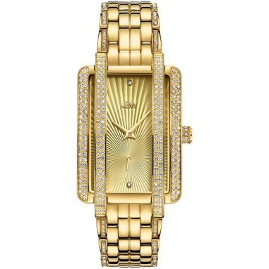 JBW Luxury Women's Mink Diamond Gold Plated Wrist Watch