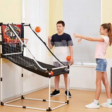 Junior Home Electronic Scoreboard Arcade Basketball Hoop Game