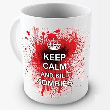 Keep Calm And Kill Zombies Coffee Mugs