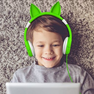 Kids Headphones Cat-inspired Over the Ear Headsets