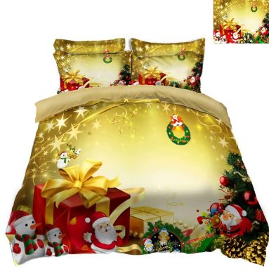 Christmas King Quilt Bedding Set