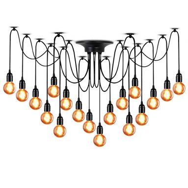 LAMPUNDIT 18-Light Chandelier
