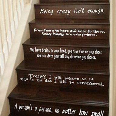 LARGE Assorted Sayings Vinyl Stairs or Wall Decal