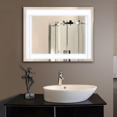 40% Discount: LED Bathroom Silvered MirrorTouch Button