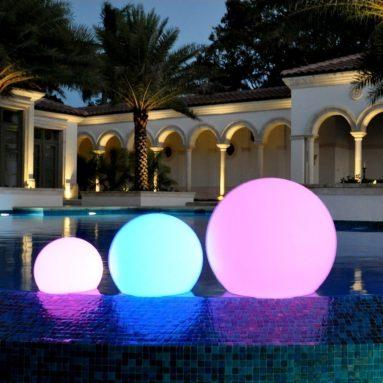 LED Floating color sphere pool float