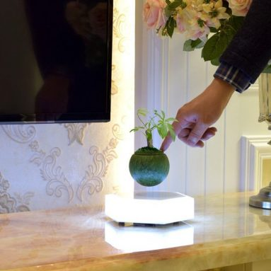 LED Levitating Plants Air Bonsai Pot