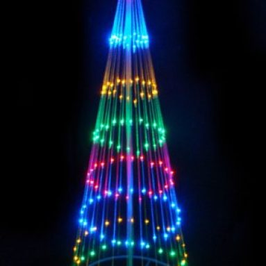 LED Light Show Cone Christmas Tree Lighted Yard Art Decoration