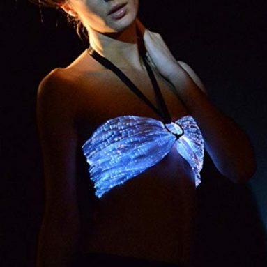 LED Light up Dance Costumes Glow In The Dark Crop Tops