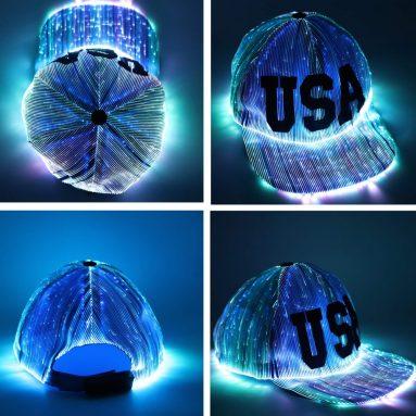 LED Light up Hat 6-Color Glow Baseball Cap
