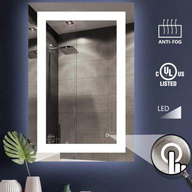LED Lighted Bathroom Wall Mounted Mirror