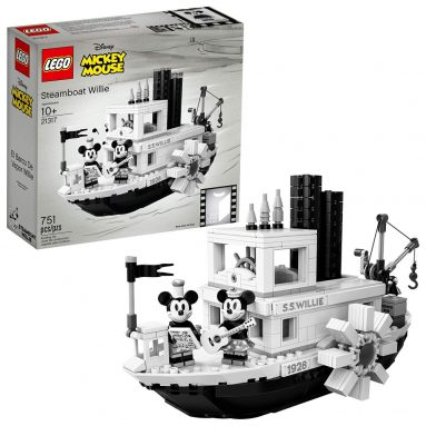 LEGO Ideas Disney Steamboat Willie Building Kit