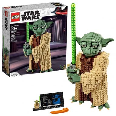 LEGO Star Wars: Attack of The Clones Yoda 75255 Yoda Building Model and Collectible Minifigure with Lightsaber