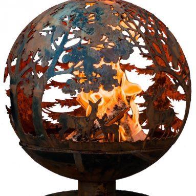 Laser Cut Wildlife Fire Pit Globe