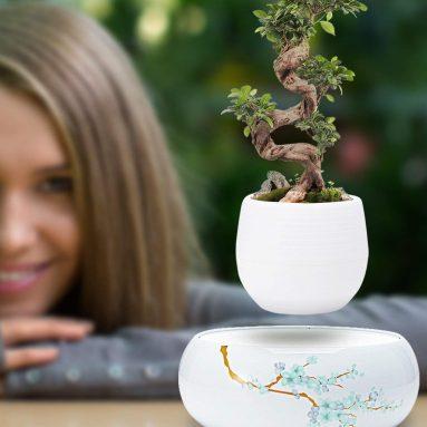 Levitating Plant Pot with Japanese Style Design