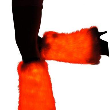 Light up Furry Leg Warmers