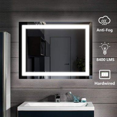 Lighted Bathroom Wall Mounted Led Mirror