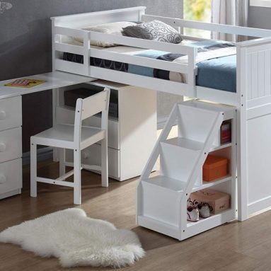 Loft Bed with Chest and Swivel