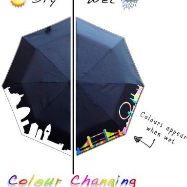 London Cityscape Color Changing Umbrella