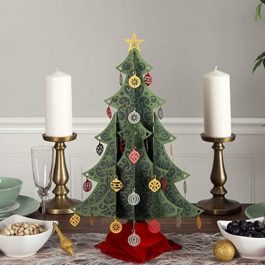 Lovepop Ornate Tabletop Christmas Tree