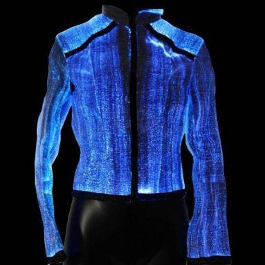 Jacket made of Luminous Fiber Optics