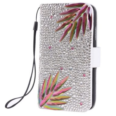 Luxurious Diamond Bling Wallet Case Stand Cover