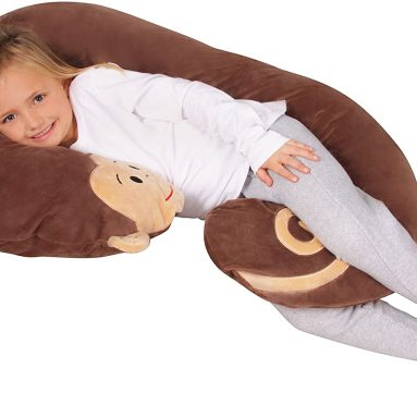 Luxuriously Soft Plush Monkey with Zippered Removable Cover