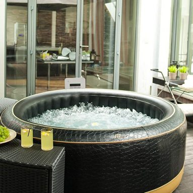 Luxury Exotic Relaxation and Hydrotherapy Spa With Crocodile Skin