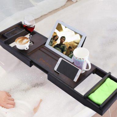 Luxury Extendable Bathtub Caddy Tray