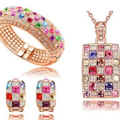 Luxury Swarovski Elements Crystal Set