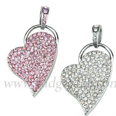 Jewel Heart Necklace USB Flash Drive