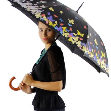 Magic Color Changing Butterfly Print Umbrella
