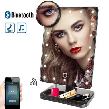 Makeup Mirror with Lights and Bluetooth